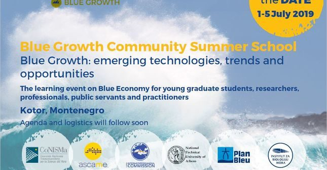 SUMMER SCHOOL «BLUE GROWTH: EMERGING TECHNOLOGIES, TRENDS AND OPPORTUNITIES» – 01/07/2019