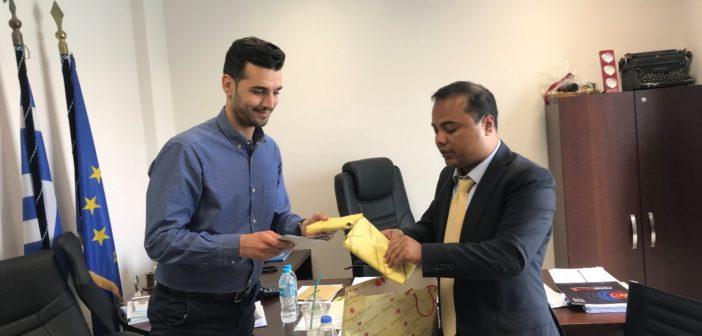 Συνάντηση  με τον πρόξενο της Λαϊκής δημοκρατίας του Μπαγκλαντές