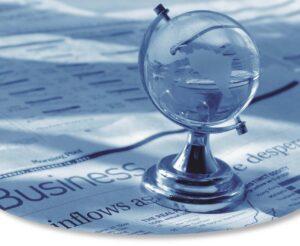 Γυάλινη γη με εφημερίδα